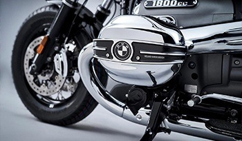 BMW Motorcycle Close up